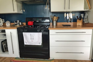 retrofitted kitchen